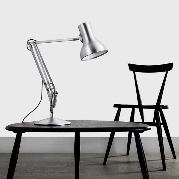 Anglepoise Type-75-Mini-Desk-&-Floor-Lamp---Slate-GreyType-75-Mini-Desk-Lamp---Brushed-Aluminium