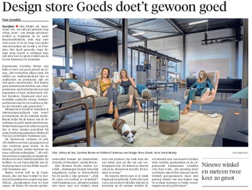 Noord Hollands Dagblad 13-9-2019 - Goeds Zaandam
