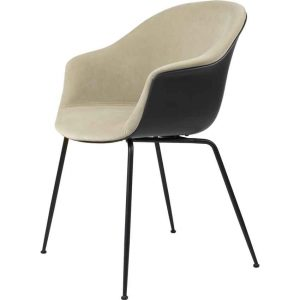 Gubi-Bat-Dining-Chair-Front-Upholstered-Conic-Base-8