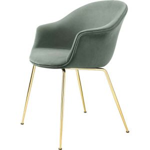 Gubi-Bat-Dining-Chair-Fully-Upholstered-Brass-Semi-Matt-Base-4