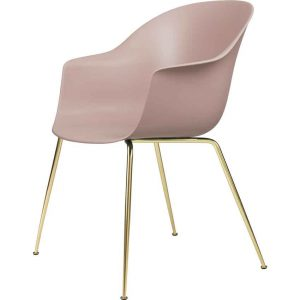 Gubi-Bat-Dining-Chair-Un-Upholstered-Brass-Semi-Matt-Base-7