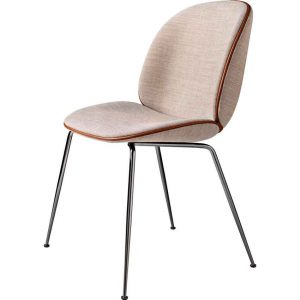 Gubi-Beetle-Dining-Chair-Fully-Upholstered-Black-Chrome-Conic-base-10
