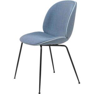 Gubi-Beetle-Dining-Chair-Fully-Upholstered-Black-Matt-Conic-base-13