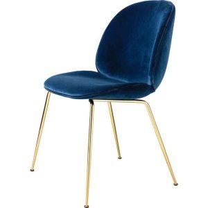 Gubi-Beetle-Dining-Chair-Fully-Upholstered-Brass-Semi-Matt-Conic-base-9