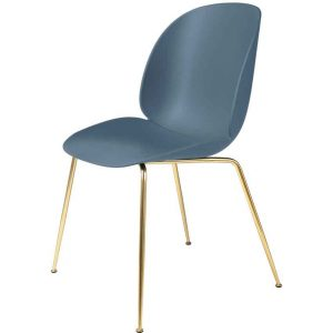 Gubi-Beetle-Dining-Chair-Unupholstered-Conic-Base-Brass-Semi-Matt-6