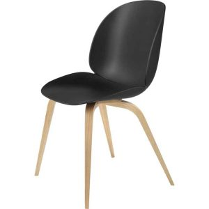 Gubi-Beetle-Dining-Chair-Unupholstered--Oak-Wood-Base-1